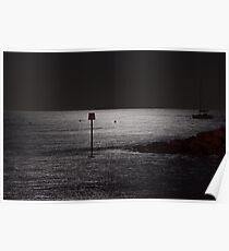 Moonlit Sea Poster