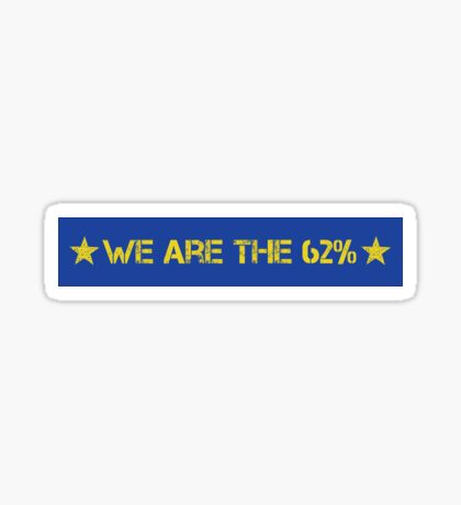 We Are The 62% (Linear) Sticker