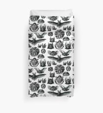 Bats by Haeckel Duvet Cover