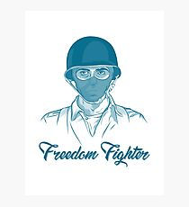 Freedom Fighter Photographic Print