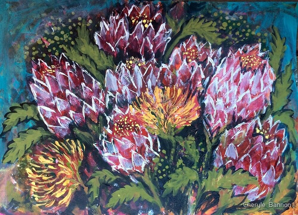 Bush flowers by Cheryle  Bannon