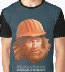 Maelstrom - Never Forget - Construction Worker Graphic T-Shirt