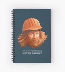 Maelstrom - Never Forget - Construction Worker Spiral Notebook