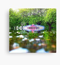 Reflections in the SkatePark Canvas Print