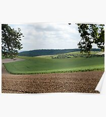 Soft Curves Berkshire Downs Poster