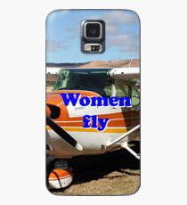Women fly: high wing aircraft Case/Skin for Samsung Galaxy