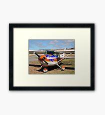 Women fly: high wing aircraft Framed Print