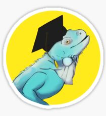Graduation Lizard Sticker
