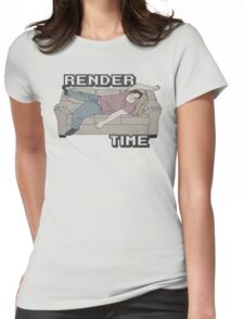 Render Time Womens Fitted T-Shirt