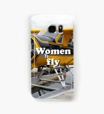 Women fly: float plane, Lake Hood, Alaska Samsung Galaxy Case/Skin