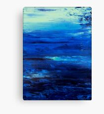 """Large, Abstract art, Contemporary art, Painting 36"""" Original abstract painting textured Painting abstract painting art  OCEAN MIST Canvas Print"""