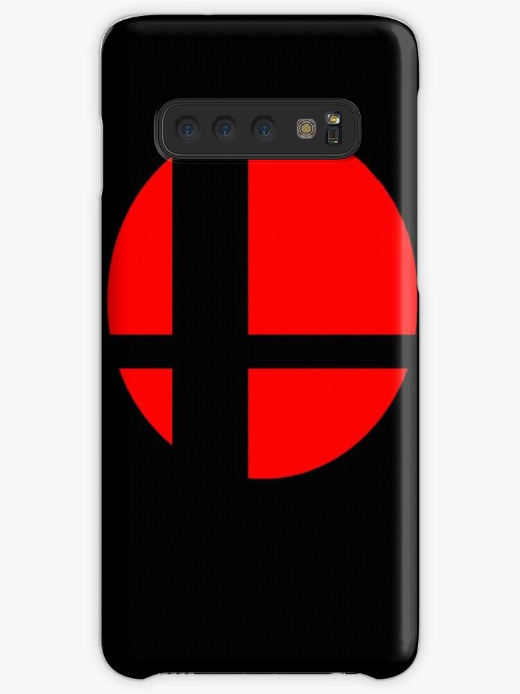 «Logotipo de Super Smash Bros - Fondo negro - Fundas Samsung» de Wobscur