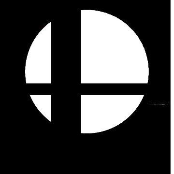 Super Smash Bros Logo - Black Background - Apple Cases by Wobscur