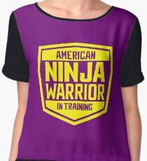 American Ninja Warrior - Yellow Women's Chiffon Top