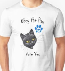 Obey the Cat Paw Scottish Independence T-Shirt Slim Fit T-Shirt