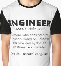 """""""Engineer"""" funny definition Graphic T-Shirt"""