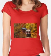 Commuter Rail to Boston Women's Fitted Scoop T-Shirt