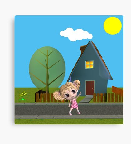 Chibi Girl Canvas Print