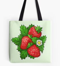 Ripe juicy strawberries Tote Bag