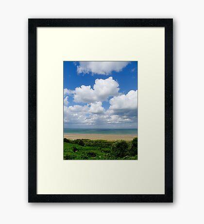 Colleville-sur-Mer view Framed Print
