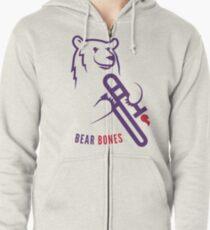 Bear Bones Zipped Hoodie
