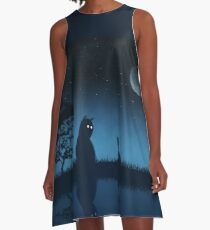The Friend of the Night A-Line Dress