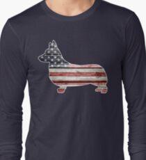 Patriotic Corgi Long Sleeve T-Shirt