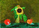 Piet's Sunflower in a Vase by Anne Gitto