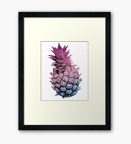 Pink Purple and Blue Pineapple Framed Print