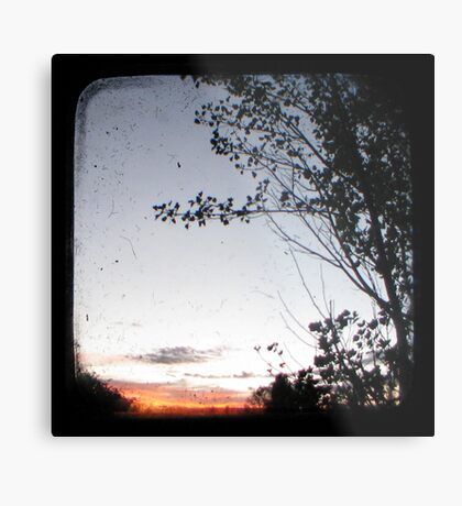New England Sunset Through The Viewfinder (TTV) Metal Print
