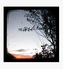 New England Sunset Through The Viewfinder (TTV) Photographic Print