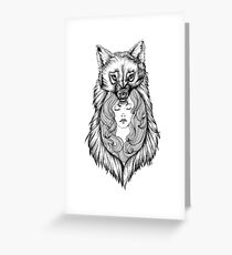 Wolves Will Keep You Warm Greeting Card