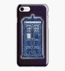 Blue Filigree TARDIS iPhone Case/Skin