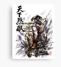 Unbeatable Dragonborn Sumi/watercolor Canvas Print