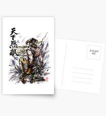 Unbeatable Dragonborn Sumi/watercolor Postcards