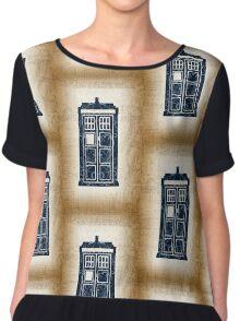 Filigree TARDIS Paper Chiffon Top