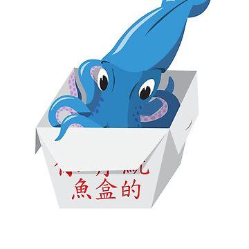 Blue Squid Box by christychik