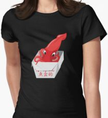 Red Squid Box Womens Fitted T-Shirt