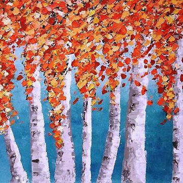 Silver Birch in Autumn by hipasdesign