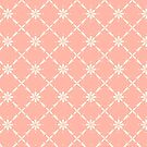 Charlotte Collection, Farmhouse Diamond Floral in Peach by ThistleandFox
