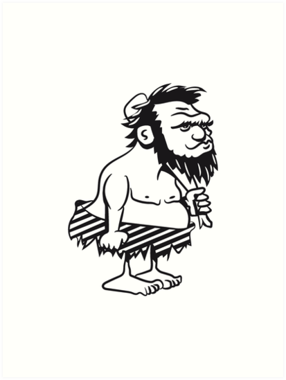 Stone Age Man Caveman Human Funny By Motiv Lady