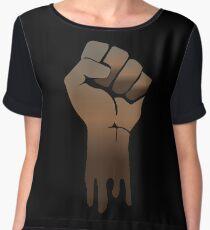 Black Power Chiffon Top