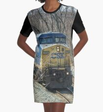 train Graphic T-Shirt Dress