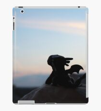 Tiny Toothless watching the sunset. iPad Case/Skin