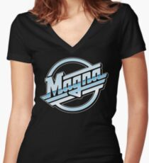 Magna // Charlie Day // Original High Quality Women's Fitted V-Neck T-Shirt