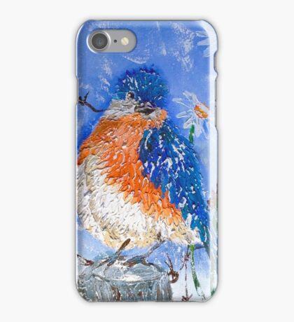 Blue Bird Winking iPhone Case/Skin
