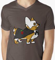 Corgi der Oper T-Shirt mit V-Ausschnitt für Männer