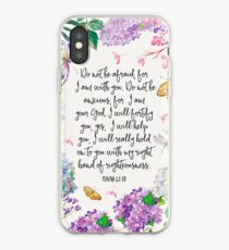 Isaiah 41:10 (Flowers and Butterflies) iPhone Case