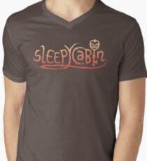 SleepyCabin T-Shirt mit V-Ausschnitt