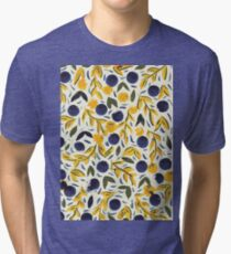 Dots Dots Leaves Leaves Tri-blend T-Shirt